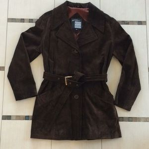 Vintage Michael Hoban North Beach Leather Trench